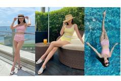 最懂享受夏天的女神!Jessia穿性感泳衣做足儀式感 簡直在拍房地產的豪宅廣告