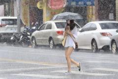 影/南部有局部大雨 各地留意午後雷陣雨