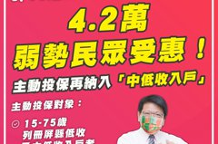 屏東縣微型保險再擴大 為4.2萬弱勢民眾撐起保護傘