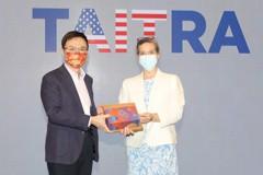 AIT新任處長拜訪貿協 聚焦台美合作與創新活動