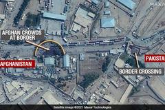 衛星畫面直擊!數千阿富汗人成「密麻黑點」 擠邊境欲逃難