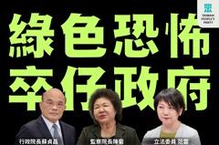 東廠!民眾黨:監院不顧違法 也要配合媒體打擊在野黨