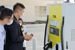 國道首座電動車快充站啟用!高公局:2025前設置130格