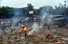 印度每日2000死…公園變火化場 富豪、明星搭機出逃挨批