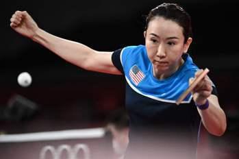 桌球/美國華裔媽媽劉娟首次出征奧運 單打連闖2關