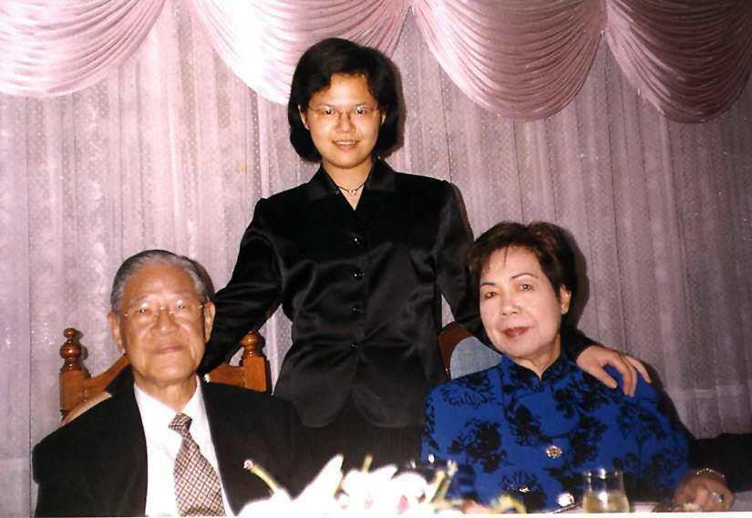 李登輝、曾文惠伉儷與孫女李坤儀。 聯合報系資料照