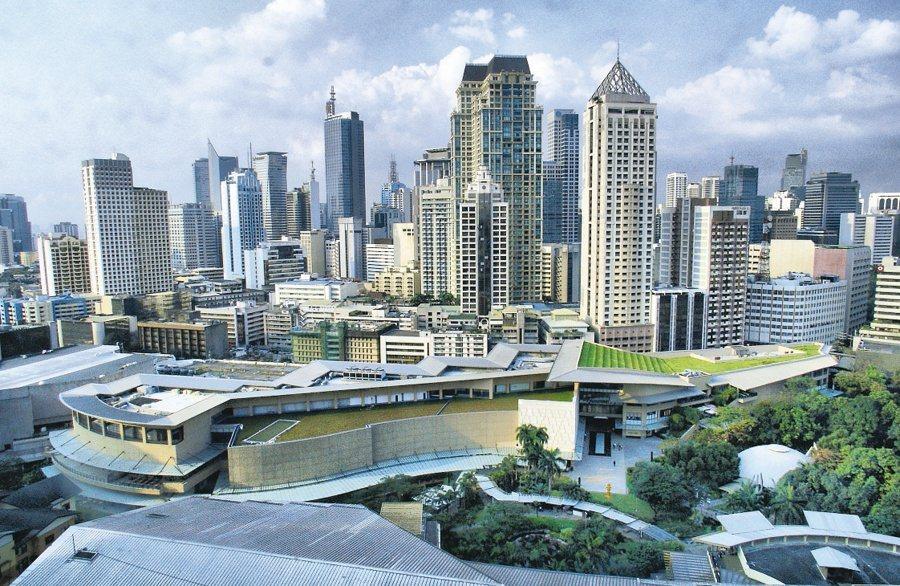 菲律賓金融心臟之稱的馬卡蒂市。 報系資料照