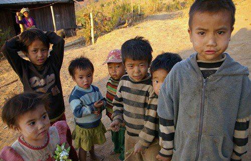緬甸格勞山區托兒所的孩子們。圖╱功夫胖達提供