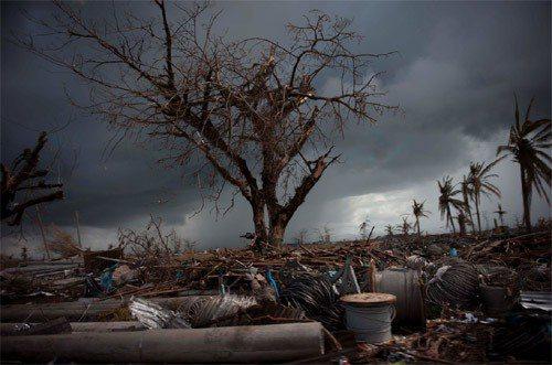 海燕颱風襲擊菲律賓,造成慘重災情。圖/新華社