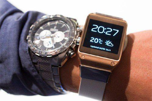 穿戴科技就是科技與生活正快速融合的現象,是台灣的優勢與機會。圖為三星電子智慧手表...