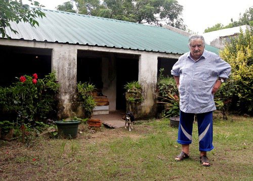 烏拉圭總統何塞.穆希卡(José Mujica),出身農家,素有最...