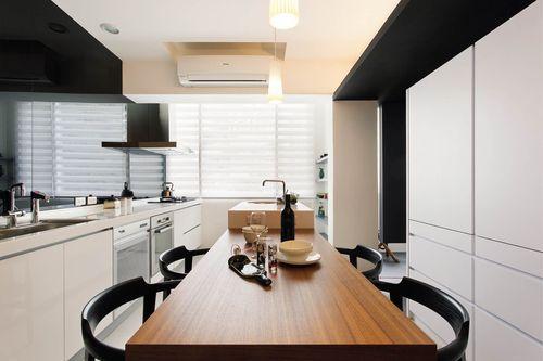 與瓦斯爐的相對牆應維持空曠、整潔,才能為家庭帶來好運。圖片提供_馥閣設計