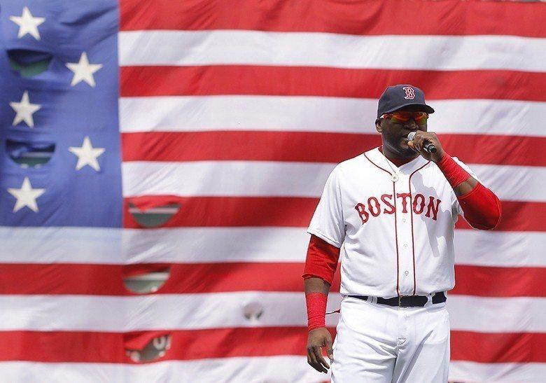 波士頓馬拉松爆炸案後,老爹David Ortiz一席「這是我們的城市」的演說與他每一支季後賽的全壘打一樣振奮人心。 圖/路透社