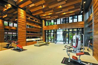 健身房的設計感充滿力與美。 攝影/張世雅 圖片提供/全誠建設、城揚建設