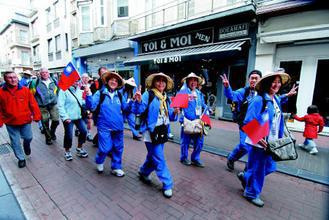 比利時健走,台灣團員熱情親切,令國際友人印象深刻。