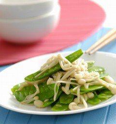 金針菇炒豌豆夾