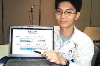 台中榮總血液腫瘤科醫師滕傑林說,大部分治療無效的血癌患者經基因檢測發現都有基因變...