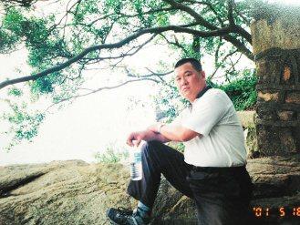 王嘉遴接任東沙指揮官前體重105公斤。(記者鄭國樑/翻攝、攝影)