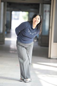40歲的陳雅薰,8年前生下老大後,身材開始「吹氣球」。 圖╱成大斗六分院提供