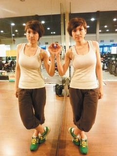 1年減重30公斤,陳宜婷彷彿經歷2個人生。 記者董俞佳/攝影