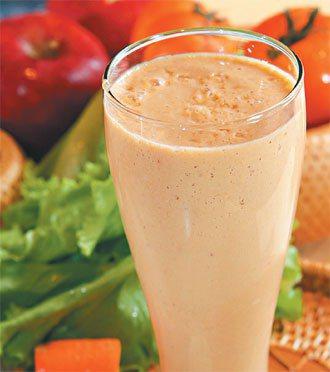 粉紅嫩肌蔬果汁。記者高智洋/攝影