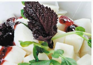 香梅拌山藥(食譜提供:農糧署、天和鮮物)
