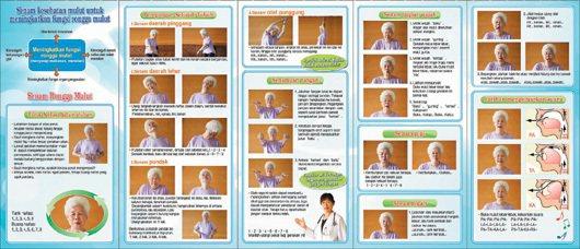 大同區健康服務中心,特別製作印尼與英文版的健口操摺頁。 圖/大同區健康服務中心提...
