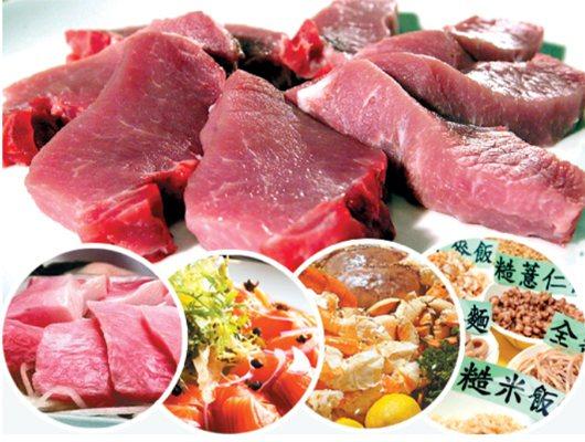 部分市售豬肉標榜含有高量「硒」,專家提醒,鮪魚、鮭魚、海產、全穀類(圖)也都含有...