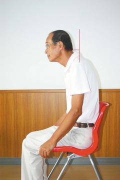 圖2:頭部過度向前姿態。 圖/陳俞州治療師提供