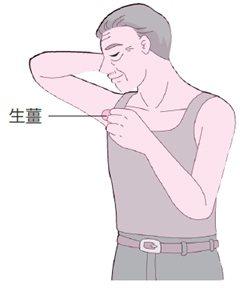 用生薑水擦拭腋下,就能消除腋下異味。圖/人類智庫出版集團提供