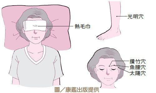持續用熱毛巾敷眼睛、按壓穴位,可預防老花眼度數加深。