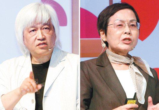 趙凱(左),劉秀枝(右)。 記者屠惠剛/攝影