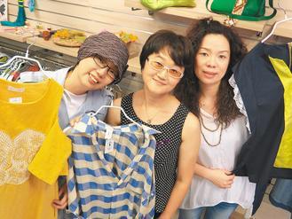 「將軍夫人」服飾店三名老闆都是乳癌患者,左起為王君華、蘇愛、謝秀連。 記者李世宸...