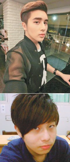 上:求助醫美後,周柏璋變身為韓系型男,身邊朋友驚豔他的改變。下:周柏璋接觸醫...