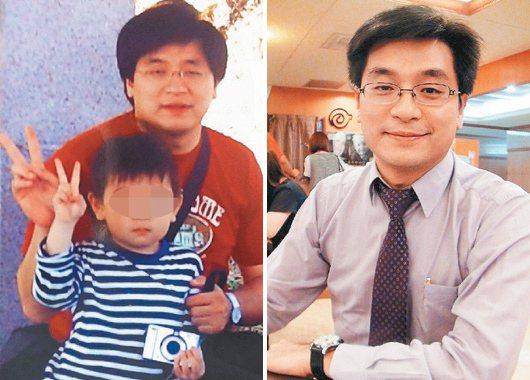 義大醫院精神科醫師簡佳璋體重曾胖到97公斤(左),後來發憤在34天內減重17公斤...