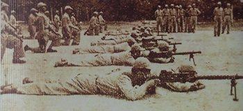 1949年,一群在國共內戰時期從雲南顛沛流離到泰北邊境的國民黨軍隊。 林以君翻攝