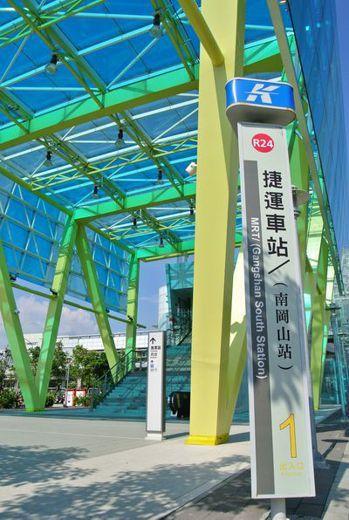 捷運南岡山站。報系資料照