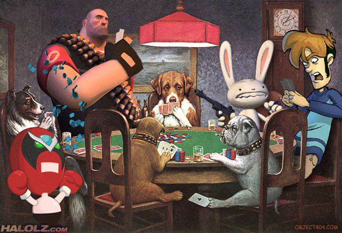 每次遇到不同的鄰居開門,該不會是聚賭吧? 圖片來源/ halolz