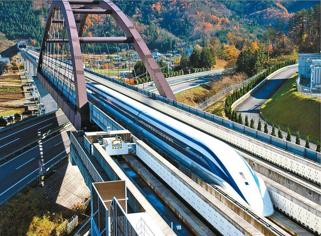 圖為日本「JR東海鐵道公司」的磁浮列車 美聯社