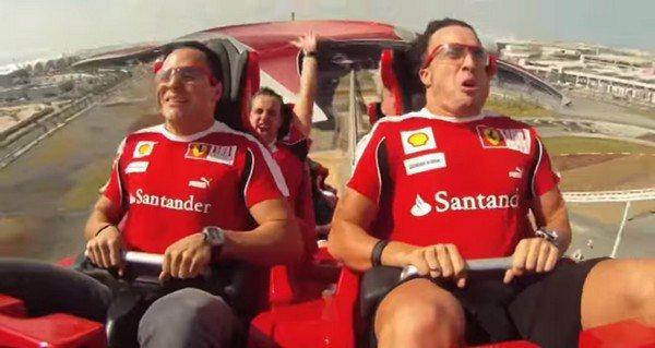 時速240公里快到連Alonso and Massa都無法表情控制! 截圖自/ ...