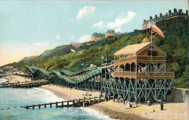 Thompson打造首座專利雲霄飛車Switchback Railway 截圖自...