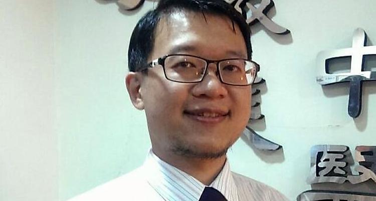 台中市中醫師詹子昇。記者趙容萱/攝影