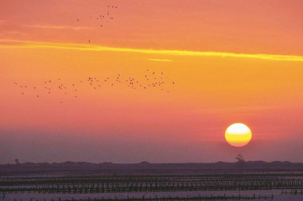 北門井仔腳夕陽美景,讓人讚嘆。 圖/雲嘉南濱海國家風景區管理處提供