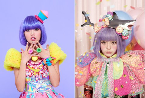 「食尚玩家」主持人阿諾,最近跨界當起歌手,還發表新歌「貪吃冒險」,只是她以五彩繽紛的前衛造型,試圖引人注意,未料被眼尖網友發現,整體造型幾乎是日本歌手「卡莉怪妞」翻版,尤其兩個人放在一起,讓人傻傻分...