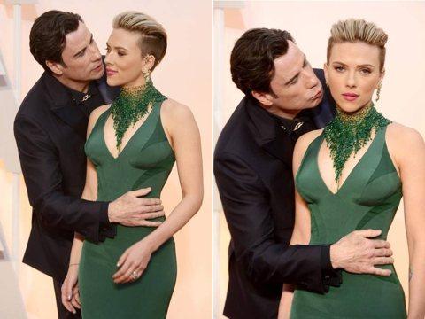 美國好萊塢女星史嘉蕾喬韓森今天出面力挺影星約翰屈伏塔,稱他們日前走奧斯卡紅毯時被捕捉到的「不巧的定格畫面」,無法表達這次「全然愉快又受歡迎」的相遇。史嘉蕾喬韓森(Scarlett Johansson...