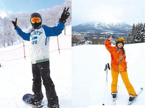 李李仁和陶子帶著兒女來到北海道二世谷雪地學習滑雪,一開始全家人都摔得七葷八素,但李李仁憑著一股猛勁掌握絕竅,技巧進步到可以邊滑邊拿著手機錄影自拍,陶子羨慕表示:「老公不僅滑雪馬上上手,而且開車竟可以...