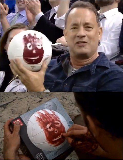 影帝湯姆漢克斯(Tom Hanks)手上那顆球,不就是他在荒島求生時相依為命的「威爾森(Wilson)」嗎?事隔將近15年兩人重聚啦!原來湯姆漢克斯昨晚去觀賞紐約遊騎兵隊的比賽,在中場時間鏡頭照到這...