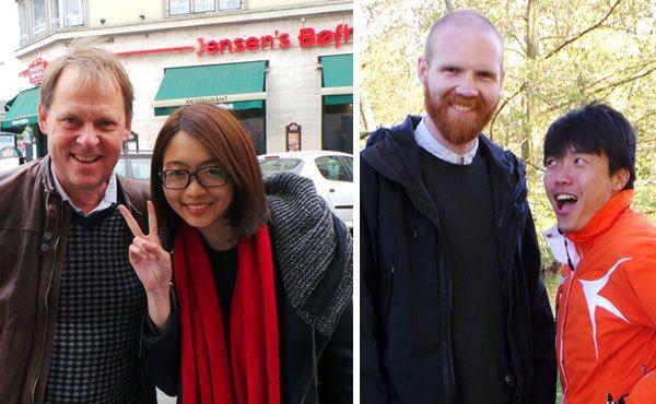 左圖:綠色國度媒體主管尼爾森與udnTV記者韓瑩合影。 右圖:綠色國度業務專員...