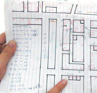 郵差手繪地圖才搞懂方位。 記者呂筱蟬/攝影
