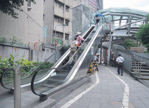 板橋遊龍造型特殊,但電扶梯故障率高,導致使用率低,每年維修和電費高達130萬元。...